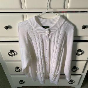 Size large white sweater cardigan!